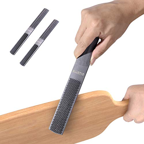 Wood Rasp 2 Packs with Premium Grade High Carbon Hand File and Round Rasp, Half Round Flat & Needle Files. Best Wood Rasp Set for Sharping Wood and Metal Tools