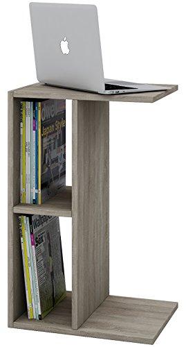 VCM Couchtisch Beistelltisch Sofatisch Notebook Nachttisch Zeitungsständer Tisch 60x45x40 cm Sonoma-eiche