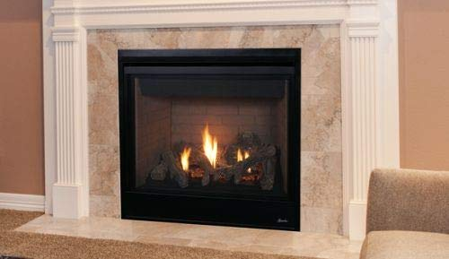 Cheapest Price! 35'' Direct-Vent Fireplace w/Aged Oak Logs and Electronic Ignition - LP