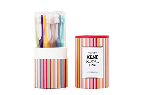 [KENT] PETITE Small Head Gentle Soft Toothbrush for Sensitive Teeth, Gums for Adults & Teens with Braces - set of 10 (Compact Size)