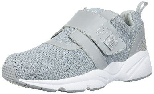 Propet Men's Stability X Strap Sneaker, Light Grey, 10 Medium