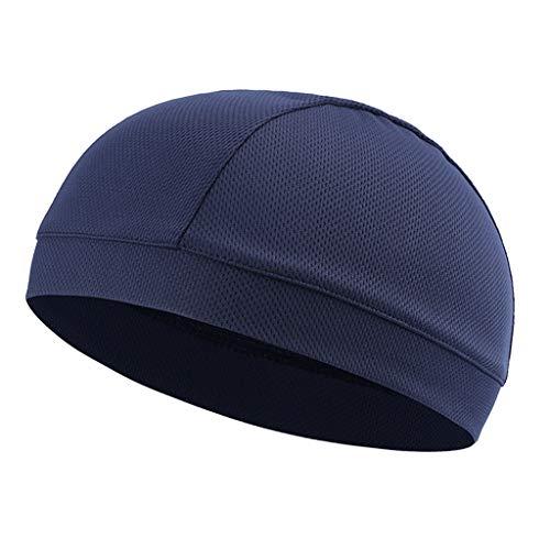 Générique Baoblaze Bonnet Casquette Entraînement Chapeau Sous-Casque Unisexe pour Casque de vélo, Course, Ski, Jogging - Bleu foncé, 29 x 18 cm
