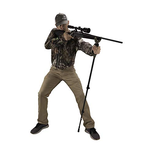 Allen Company Axial Shooting Stick and Monopod, Camera Base, Spotting Scope, Extends up to 61-inch, Olive, Green, One Size