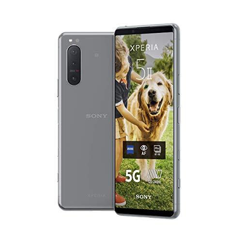 Sony Xperia 5 II 5G Smartphone (15,5 cm (6.1 Zoll) 21:9 CinemaWide FHD+ HDR OLED-Display, Dreifach-Kamera-System, 3,5-mm-Audio-Anschluss, Android 10, SIM Free, 8 GB RAM, 128 GB Speicher) Grau