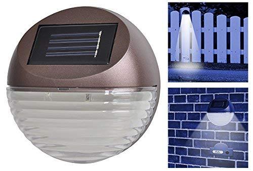 Solar LED Zaunbeleuchtung 4er Set - Ideal auch als Treppenleuchte, Hausnummerleuchte oder Klingelleuchte