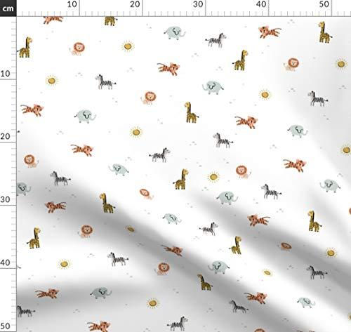 Tier, Tiere, Baby, Löwe, Zebra, Giraffe, Druck, Kinderzimmer Stoffe - Individuell Bedruckt von Spoonflower - Design von Shelbyallison Gedruckt auf Performance Piqué