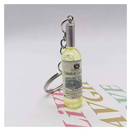 Duradero Linda novedad resina cerveza botella de vino llavero surtido color para mujeres hombres bolsa de coche llavero colgante accesiones boda fiesta regalo para llaves, manualidades de bricolaje