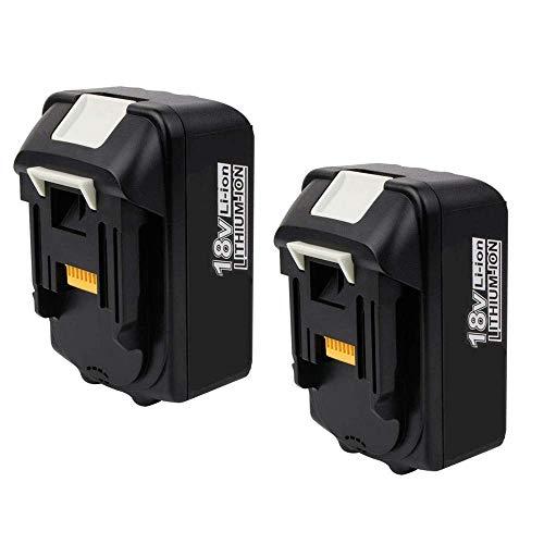2 Stück VANTTECH BL1830 Ersatzakku für Makita 18V 5.5Ah Li-Ion Akku Kompatibel mit Makita BL1850B BL1850 BL1860 BL1840 BL1830 BL1845 194204-5 LXT-400 für Makita Akku