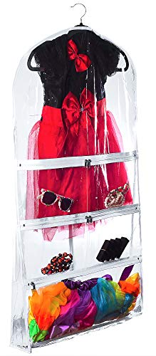 Clear Costume and Clothing Garment Bag Transparent, 22 inch x 40 inch x 4 inch Gusset (1 Pack)
