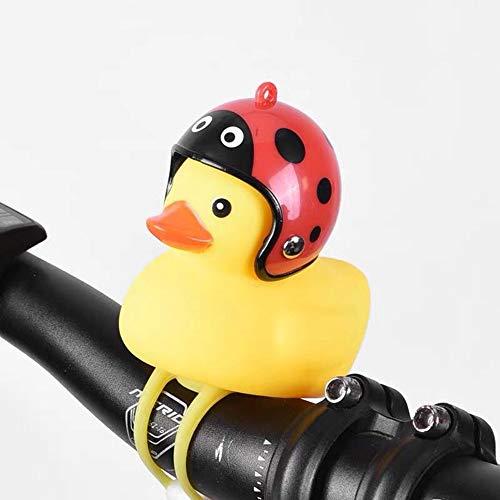 2 pezzi corno per bicicletta per bambini simpatico cartone animato giallo piccola anatra campanello per bici piccolo MTB bici da strada casco da bicicletta accessori per ciclismo da equitazione, C