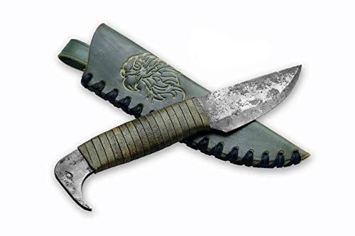 Toferner Originelles Geschenk - Bird Head 2 Handgeschmiedetes Federstahl Messer im keltischen Stil - Scharfe & Spitze Klinge mit Echtledertasche Kunst- & Kulturliebhaber