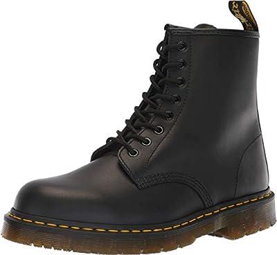 Dr. Martens, Unisex 1460 Slip Resistant Service Boots, Black, 12 US Men/13 US Women