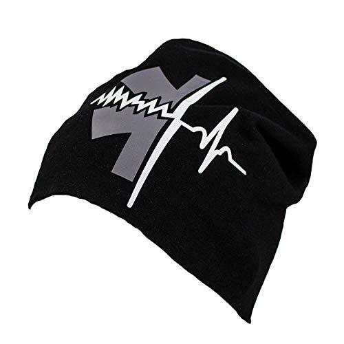 FIRE & FIGHT Streetwear Wintermütze Rescue Hat Rettungsdienst Jersey-Beanie Black