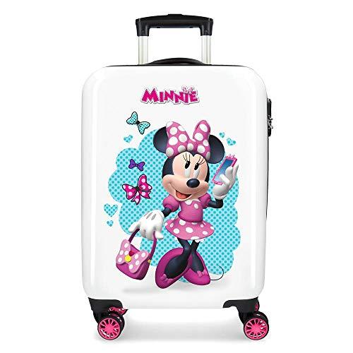 Disney Minnie Good Mood Maleta de cabina Multicolor 34x55x20 cms Rígida ABS Cierre combinación 32L 2,5Kgs 4 ruedas dobles Equipaje de Mano