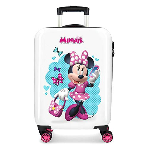 Disney Minnie Good Mood Maleta de cabina Multicolor 34x55x20 cms Rígida ABS...