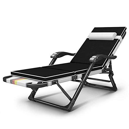 GCZZYMX Gravedad cero Sillas Altas Prestaciones de gran tamaño reclinable Tumbona con el...