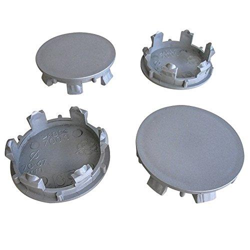 4 tapas de cubo universales de 70 mm y 62,5 mm.