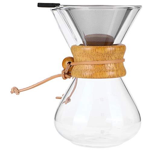 Sdfafrreg Olla de Goteo de café, cafetera de Vidrio, Ligera, Resistente a Altas temperaturas, Lavable a máquina para Uso doméstico, café, café, Amante del café(400ml)