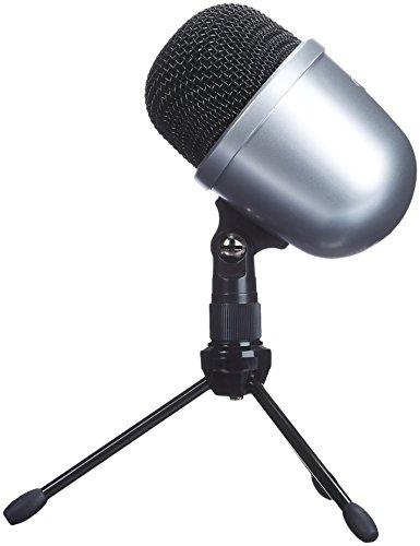 Amazon Basics - Micrófono de condensador, de sobremesa, tamaño mini - Plata