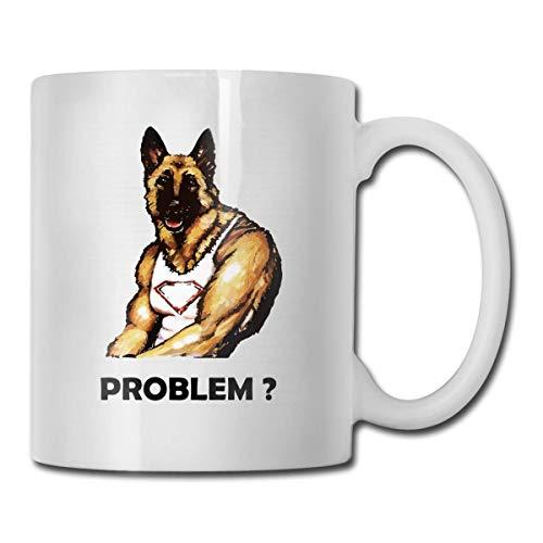 Lustige Kaffeetasse Lustige deutsche Schäferhund-Kaffeetasse Einzigartiges Festival-Geburtstagsgeschenk für Männer Frauen