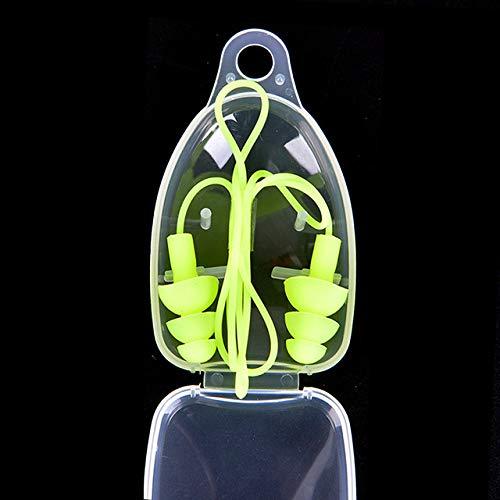 WAXCC 1 pieza de tapones auditivos universales de silicona suave, tapones auditivos...