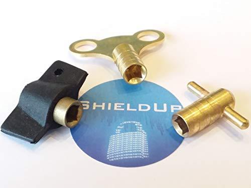 ShieldUp - Juego de 3 llaves de purga de válvula de