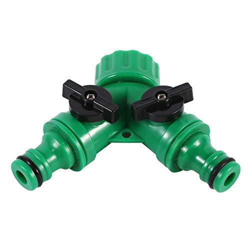Jeanoko Tomacorrientes de 2 vías Conector de Grifo 1 Uds Interruptor de Conector de Grifo de riego para riego de jardín