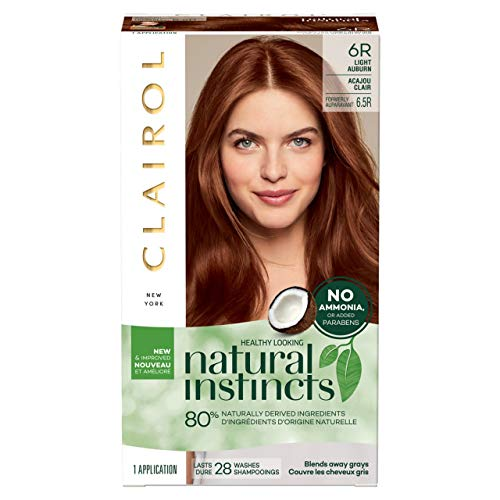 Clairol Natural Instincts Semi-permanent Hair Color, 6.5R Light Auburn, 3 Count (Packaging May Vary)