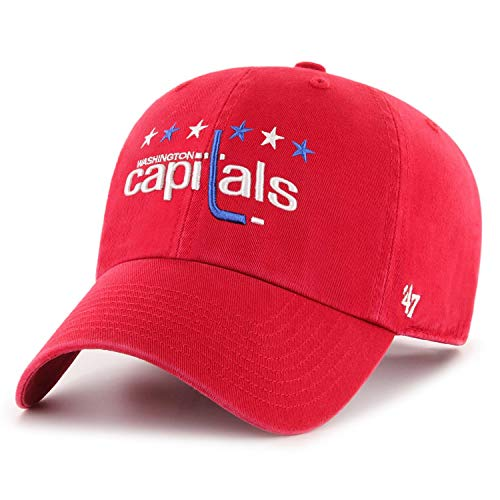 '47 Brand Washington Capitals Clean Up Dad Hat Cap Red