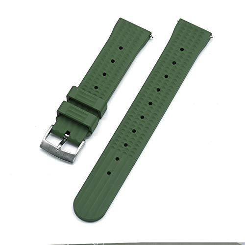 Brting Sorteo Strap de Reloj de Goma de Goma de Fluoro Premium Correa de Reloj 20 mm para Seiko 22mm Buceo Pulsera Impermeable Pulsera Accesorios de Pulsera Reemplazo