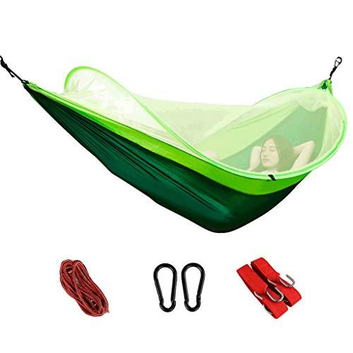 LCSHAN Hängematten-Moskito-Konto außerhalb ultraleichter Indoor-Campingausstattung für den Haushalt ( Farbe : Grün , größe : B )