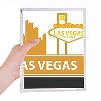 ネバダ州ラスベガスアメリカ へようこそ 硬質プラスチックルーズリーフノートノート