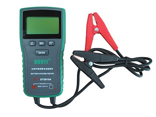 Automotive Battery Tester 12V & 24V Voltage With Cold Cranking Amps 100-1700 Battery Analyzer For Battery Status, Engine Activtion System, Charging System, Maximum Work Loading 4 IN 1 by Douyi