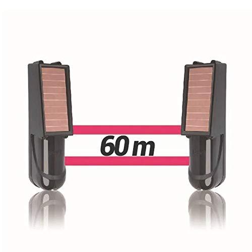 Alarma perimetral foto electrica Placa Solar Baterias SIB exterior inalámbrica. Perimetral exterior. Cerco infrarrojo. Alarma exterior. Barrera perimetral inalámbrica (60 Metros)