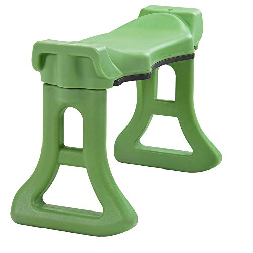 Premium Quality Garden Kneeler Bench with Large Contoured Sitting Area & Soft Foam Knee Pad | Made in USA by Vertex | Model GB2665-GN
