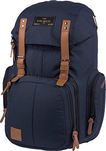 Weekender Alltagsrucksack mit gepolstertem Laptopfach, Schulrucksack, Wanderrucksack inkl. Nassfach, 42 L, Indigo