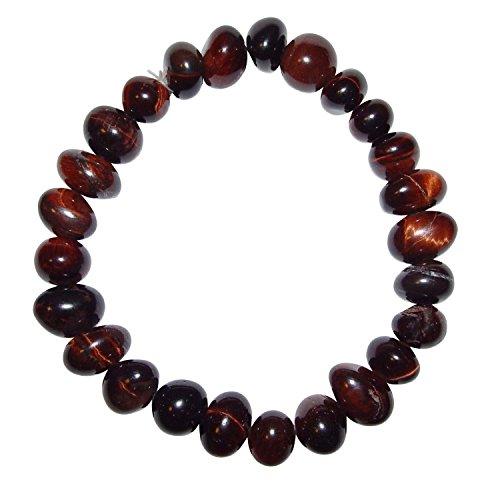 Tigerauge rot ugs. auch Katzenauge Armband schönes Trommelstein Edelstein Armband ein echter Hingucker elastisch aufgezogen.(4004)