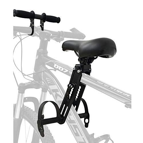 PHTW Asiento de bicicleta para bicicletas de montaña, accesorios de bicicleta Asientos con manillar montado delantero desmontable Mountain Bike niños Asientos para niños 2 ~ 5 años