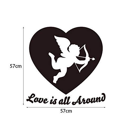 Dtcrzjxh Pegatinas De Pared 3D Decoración Para El Hogar Sala De Estar Cupido Vinilo Decorativo Para El Día De San Valentín Vinilos Decorativos De La Habitación Matrimonial, A