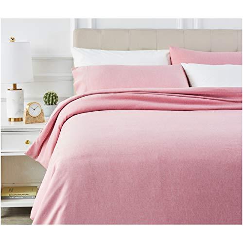 AmazonBasics - Juego de ropa de cama con funda de edredón, de microfibra, 230 x 220 cm, Rojizo (Sandy Red)