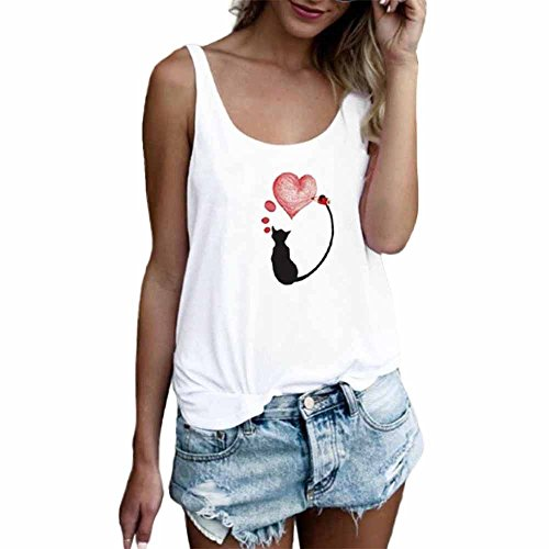 Luckycat Ropa Mujeres Camisetas sin Mangas Tank Top, Cute Letra Impreso Strappy Sexy Casual sin Mangas Blusa Cami Camisas Camiseta Chaleco Tops para Mujeres Dama