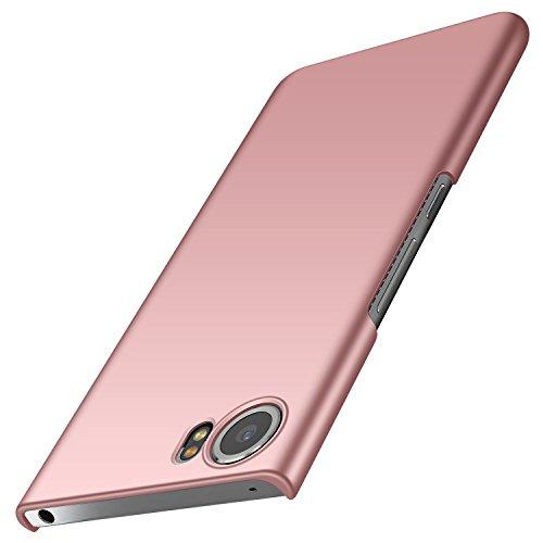 BlackBerry Keyone Hülle, Anccer [Serie Matte] Elastische Schockabsorption & Ultra Thin Design für Keyone (Glattes Rosen-Gold)