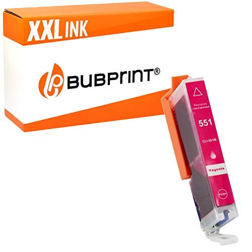 Bubprint Druckerpatrone kompatibel für Canon CLI 551 XL M CLI-551XL 551XL für Pixma IP7250 IP8750 IX6850 MG5450 MG6450 MG7550 MX920 MX925 Magenta