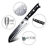 SHAN ZU Damast Santokumesser Kochmesser 67 Schichten Damastmesser Messer mit G10 Griff - PRO Series - 3