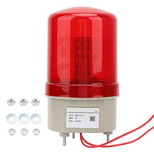 LED-Warnleuchte, 220 V Wechselstrom, rotierendes Blitzlicht, roter Blitz mit festem Durchmesser 97 mm für Werkstatt, Straßensperre, Turmdrehkran usw.