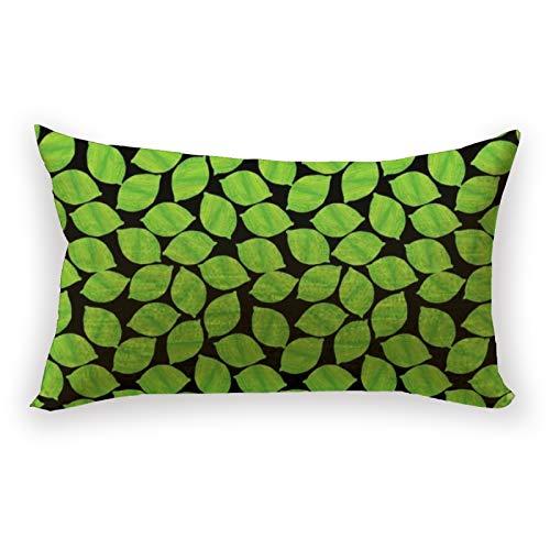 Funda de almohada con diseño de limas verdes frutales, fondo negro para personalizar, funda de almohada de lino y algodón, para sofá, cama, coche, 30,5 x 50,8 cm