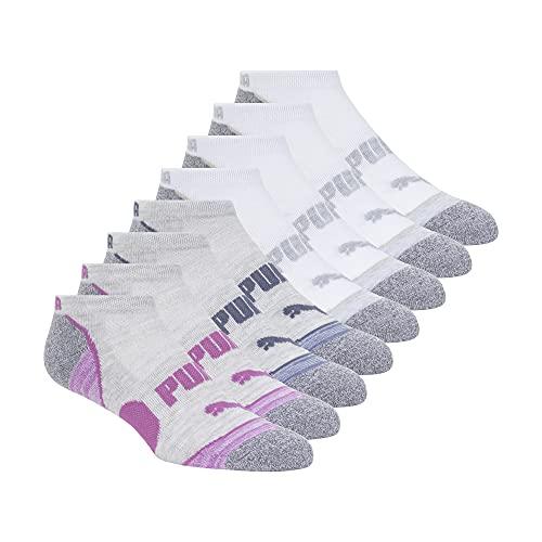Puma No Show Womens Socks Moisture Control Mesh Ventilation 8 Pair Assorted White Multi Color White Multi Color