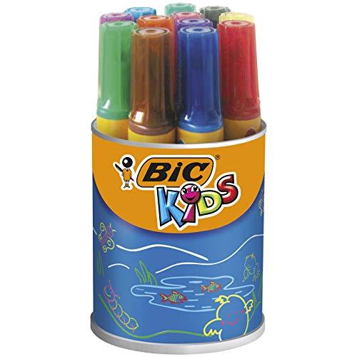BIC KiDS Decoral viltstiften 12 Stuk 12-farbig sortiert