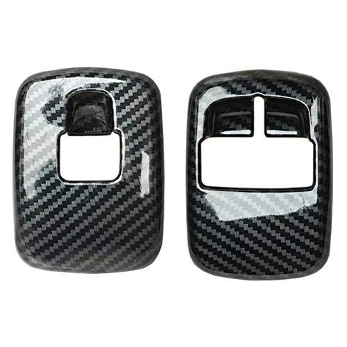 FangFang 2 PCS Carbon Carbon Fiber Window Levantador Interruptor De Interruptor De La Cubierta Pegatina De Ajuste Ajuste para Benz Smart 453 FORTWO FORFOUR 2015+ Accesorios