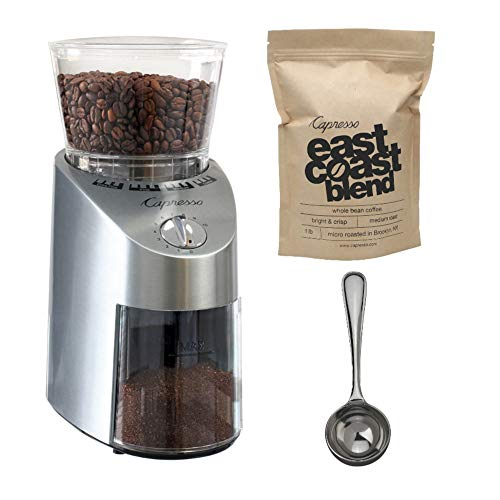 Capresso Infinity Stainless Steel Conical Burr Grinder  priced at $144.95